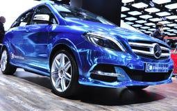 B Class Electric Drive at Paris Car Show. PARIS, FRANCE - OCTOBER 8:  Mercedes-Benz unveils the B Class Electric Drive  at Le Mondial de l'Automobile 2012 ( Royalty Free Stock Photo