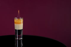 B 52. Cocktail with flame Stock Photo