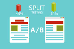 A-B comparison. Split testing. Concept  vector illustration Royalty Free Stock Photography