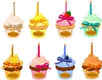 B-day cupcakes Stock Photos