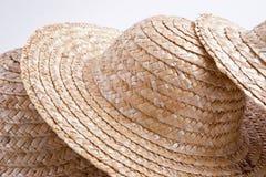 <b>De hoedeninzameling van het stro</b> stock afbeeldingen