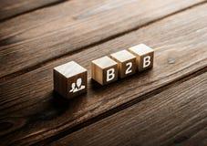 B2B-de Technologie van de Bedrijfhandel Marketing concept vector illustratie