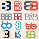 B différent Logo Design de majuscule de style illustration stock