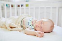 B?b? dormant dans la huche de Co-dormeur attach?e au lit des parents images stock