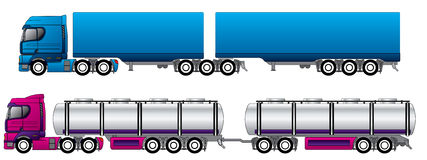 B Double Road Trains Royalty Free Stock Image