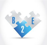 B2e puzzle pieces illustration design royalty free illustration