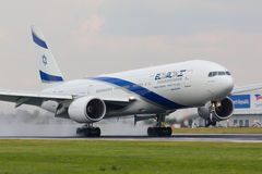 B777 El Al Israsel Royalty Free Stock Photography