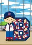 B est pour le base-ball illustration de vecteur