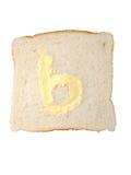 B est pour le beurre Photos stock