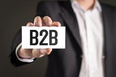 B2B et concept d'entreprise à entreprise de vente Photographie stock libre de droits
