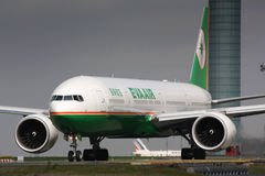 B777 Eva Air Images libres de droits