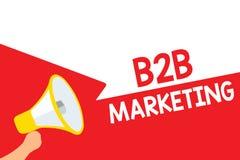 B2B för ordhandstiltext marknadsföring Affärsidéen för blytak för sammanslagning för partnerskapföretagsdistributionskedja återfö royaltyfri illustrationer
