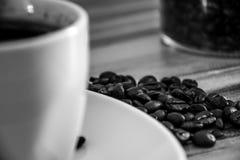 B?nor f?r svart kaffe royaltyfria foton