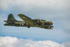 B17 Flying Fortress. Duxford, UK - 25th May 2014: B17 Flying Fortress 'Memphis Belle' at Duxford Airshow stock photo