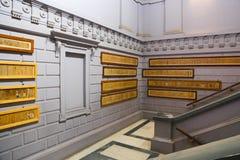 B Forntida papyrus för C - Kairomuseum Arkivbilder