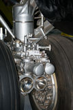 B52 front undercarriage wheels. B52 bomber front undercarriage wheels Stock Photo