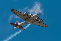 B-17G bombowiec jankesa dama zdjęcia stock
