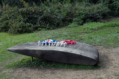 B17G Memorial. On 19th March 1945 an American B17G crashed into Reigate Hill killing all servicemen on board Stock Photo