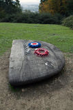 B17G Memorial 2. On 19th March 1945 an American B17G crashed into Reigate Hill killing all servicemen on board Royalty Free Stock Photos