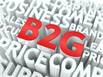 B2G. The Wordcloud Concept. Royalty Free Stock Photo