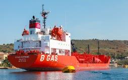 The B Gas Supreme, LPG tanker Stock Image