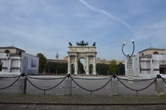 B?ge av fred i Milan, Italien arkivbilder