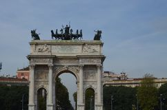 B?ge av fred i Milan, Italien arkivbild