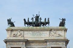 B?ge av fred i Milan, Italien royaltyfri fotografi
