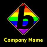 B het embleem van het brievenmalplaatje Royalty-vrije Stock Fotografie