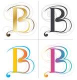 B het vectorontwerp van de alfabetdoopvont Royalty-vrije Stock Afbeeldingen