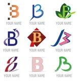 b ikon listowy set Obrazy Stock