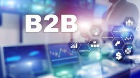 B2B interempresarial - futuro de la tecnología Modelo comercial Concepto financiero de la tecnología y de la comunicación libre illustration