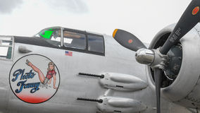 B-25J Mitchell Photo Fanny on display Stock Photo