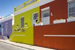 B0 Kaap, Cape Town, Zuid-Afrika Stock Fotografie
