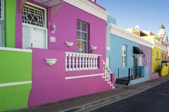 B0 Kaap, Cape Town, Zuid-Afrika Stock Foto