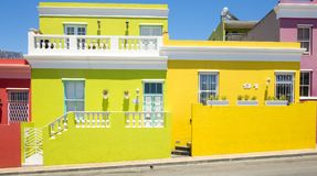 B0 Kaap, Cape Town, Zuid-Afrika Stock Afbeelding