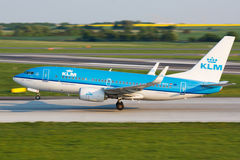 B737 KLM Royalty Free Stock Images