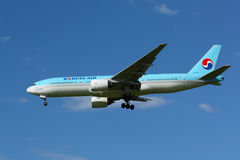 B777 Korean Air Royalty-vrije Stock Foto's