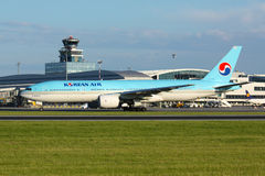 B777 Korean Air Immagini Stock