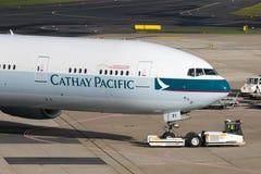 B-KPI Cathay Pacific Boeing 777-367 (ER) Obrazy Stock