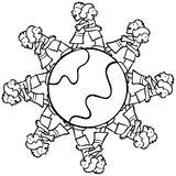 b kuli ziemskiej przytulenie żartuje otaczającego w Obraz Stock