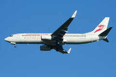 B-KXG Boeing 737-800 av Hong Kong det uttryckliga flygbolaget Royaltyfri Bild