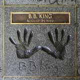 B B Le Roi Handprints photo stock