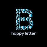 B letter Bubbles vector logo. Design element Stock Photography