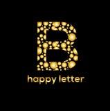 B letter water bubbles vector logo. B letter bubbles vector logo design element Stock Photo