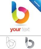 B Letter Design Element Stock Image
