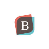 B letter icon retro logo design. Vintage company sign vector des Stock Images