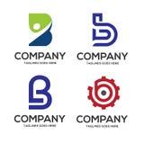 B letter logo design vector illustration logo set. B letter logo vector, letter B logo vector, creative Letter B letter logo Stock Photography