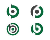 B letter logo Template vector icon illustration Stock Photos
