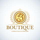 B letter monogram. Boutique Luxury Vintage, Crests logo. Business sign, identity for Restaurant and Royalty, Boutique, Hotel and H Stock Image